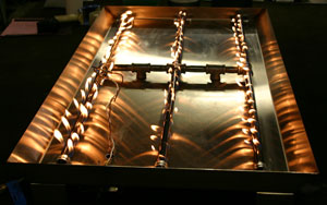 Standard And Custom Size Burners For Fireglass Fireplace And Fire Pits