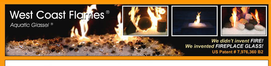 Moderustic Aquatic Glassel Fireplace Glass Rocks Propane Fireplaces
